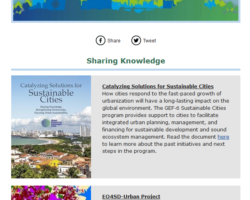 EO4SD-Urban in GPSC Newsletter