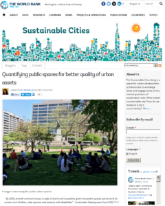 Quantifying Public Spaces for Better Quality of Urban Assets